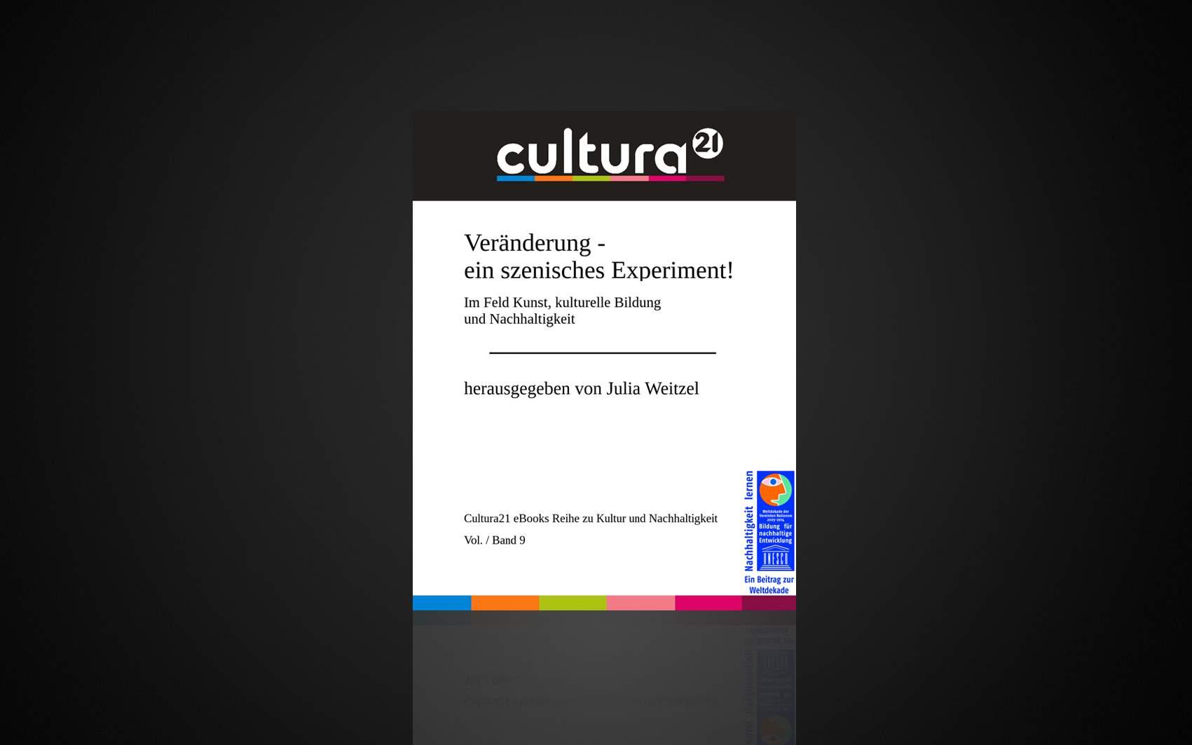 Im Feld Kunst, kulturelle Bildung und Nachhaltigkeit